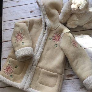 OLD NAVY Toddler Sherpa Fleece Girls Zip Jacket 4T